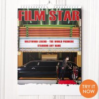 Personalised Film Star Calendar - First Edition - Film Gifts