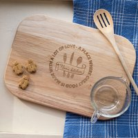 Engraved Medium Rectangular Chopping Board - A Place Where - Chopping Board Gifts