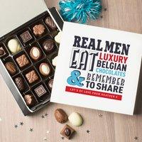 Personalised Belgian Chocolates - Real Men - Men Gifts