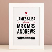 Personalised Print - The New Mr and Mrs