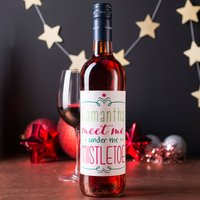Personalised Wine - Under The Mistletoe - Mistletoe Gifts