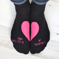 Personalised Socks - Will You Be My Valentine