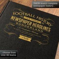 Personalised Sunderland Football Book - Football Gifts