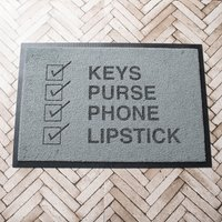 Personalised Keys Purse Phone Indoor Doormat - Purse Gifts
