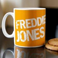 Personalised Mug - Striking Orange - Orange Gifts