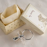 Engraved Button Corner Silver-Plated Dummy
