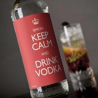 Personalised Vodka - Keep Calm - Vodka Gifts