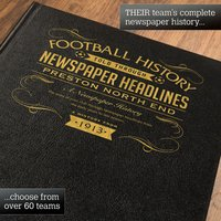 Personalised Preston North End Football Book - Football Gifts