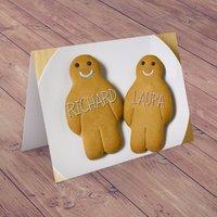 Personalised Card - Gingerbread Men - Men Gifts