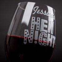 Personalised Wine Glass - Hen Night - Hen Night Gifts
