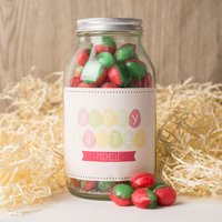 Personalised Jar Of Rosy Apple Sweets - Happy Easter