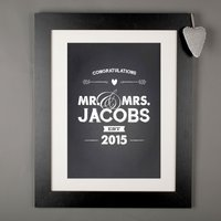 Personalised Print - Congratulations Mr and Mrs