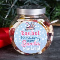 Personalised Haribo® Sweet Jar - Save Santa The Trip - Haribo Gifts