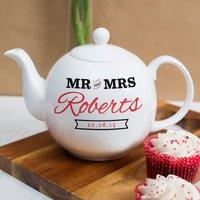 Personalised Bone China Teapot - Mr and Mrs