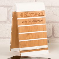 Personalised Eco Friendly Zen Phone Stand - #Sixteen - Eco Friendly Gifts