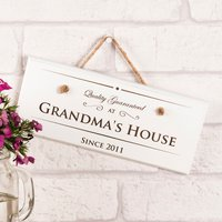 Personalised Hanging White Wooden Sign - Quality Guaranteed - Quality Gifts