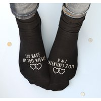 Personalised Valentine's Socks - You Make My Toes Wiggle