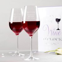 Personalised Set Of Premium Wine Glasses In Luxury Gift Box - Nine Till Wine - Working Gifts