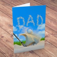 Personalised Card - Golf Sand Trap - Sand Gifts