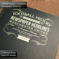 Personalised Football Book - For Your Team - Football Gifts