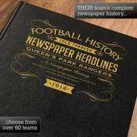Personalised Queen's Park Rangers Football Book - Football Gifts