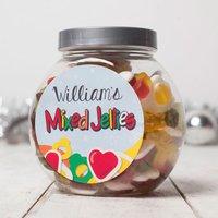 Personalised Haribo Sweet Jar - Snowflakes - Haribo Gifts