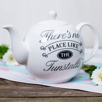 Personalised Bone China Teapot - There's No Place Like Home - Teapot Gifts