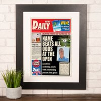 Photo Upload Spoof Newspaper Print - Golf Champion - Golf Gifts