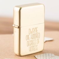 Engraved Gold Lighter - A Hundred Degrees - Lighter Gifts
