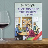 Personalised Five Give Up Booze Book - Book Gifts