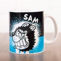 Personalised Beano Big Heads Mug - Gnasher - Beano Gifts
