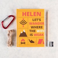 Personalised Diary - Wander Where The Wifi Is Weak - Diary Gifts