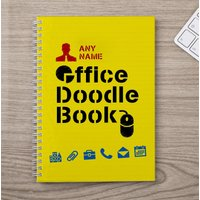Personalised Notebook - Office Doodle Book - Office Gifts