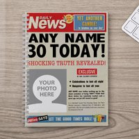 Photo Upload Notebook - 30th Birthday News - 30th Gifts