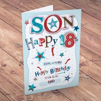 Personalised Card - Happy 18th Son - 18th Gifts