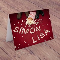 Personalised Card - Popcorn - Popcorn Gifts