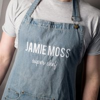 Jamie Oliver Personalised Denim Apron - Super Chef - Chef Gifts