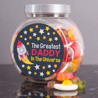 Personalised Haribo Sweet Jar - Greatest In The Universe - Haribo Gifts