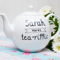 Personalised Bone China Teapot - You're Tea-Riffic - Teapot Gifts