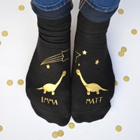 Personalised Socks - Stargazing Dinosaurs - Dinosaurs Gifts