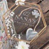 Personalised Hexagonal Glass Jewellery Box - Initials & Name - Jewellery Box Gifts