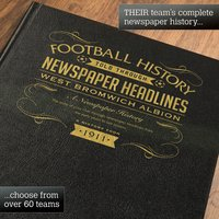Personalised West Bromwich Albion Football Book - Football Gifts