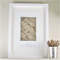 Personalised Framed 3D Coastline - Decorations Gifts