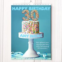 Personalised 30th Birthday Calendar - 30th Birthday Gifts