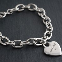 Engraved Charm Bracelet - Heart - Charm Gifts