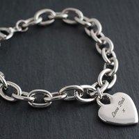 Engraved Charm Bracelet - Heart