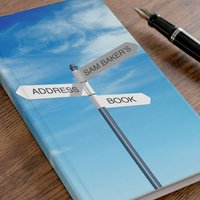 Personalised Address Book - Sign Post - Book Gifts