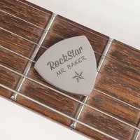 Engraved Guitar Plectrum - Rock Star Teacher - Music Gifts