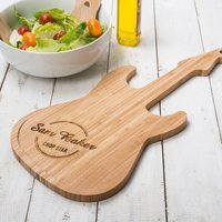 Personalised Guitar Chopping Board - Guitar Gifts