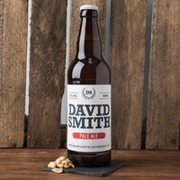 Personalised Beer - Name & Crest - Beer Gifts